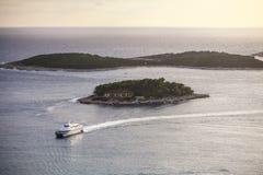 Корабль на море Стоковая Фотография