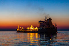 Корабль на ноче Стоковая Фотография RF
