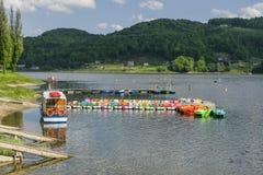 Корабль на озере стоковые изображения
