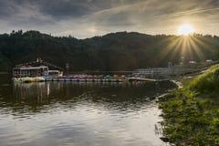 Корабль на озере стоковое фото