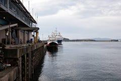 Корабль на пристани стоковая фотография rf