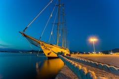 Корабль на пристани Nafplion Стоковое фото RF