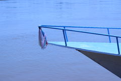 Корабль окружен железными перилами Стоковое фото RF