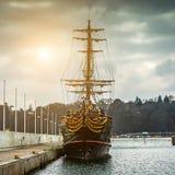 Корабль пирата туристский в Sopot Стоковые Фотографии RF