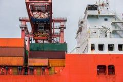 корабль порта gdansk Польши контейнера Стоковые Изображения RF