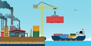 корабль порта hamburg груза деятельностей бесплатная иллюстрация