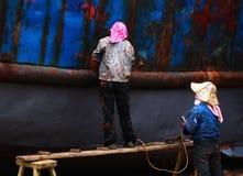 Корабль ремонта женщины старый Стоковое Изображение RF