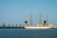 Корабль школы военно-морского флота Brice Mircea румынский воинский Стоковое Фото