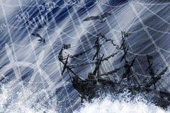 Корабль Abstracti Стоковая Фотография RF