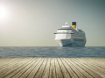 корабль luminosa круиза Косты иллюстрация вектора