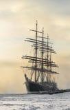 Корабль Sedov в зиме Стоковая Фотография