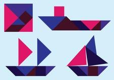 Корабль Tangram бесплатная иллюстрация