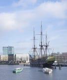 Корабль VOC в Амстердаме Стоковая Фотография RF
