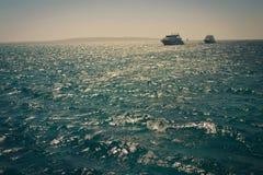 2 корабля в море Стоковые Фото