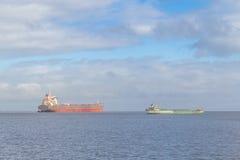 2 корабля в порте Рио Гранде старом Стоковые Изображения