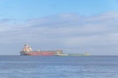 2 корабля в порте Рио Гранде старом Стоковое Изображение RF
