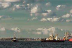 2 корабля гужа Стоковая Фотография RF