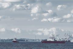 2 корабля гужа Стоковое Изображение RF
