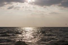 2 корабля на горизонте Стоковое Фото