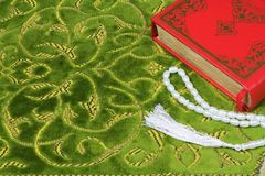 Коран, шарики розария Стоковое Фото