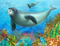 Коралловый риф - иллюстрация для детей Стоковое фото RF