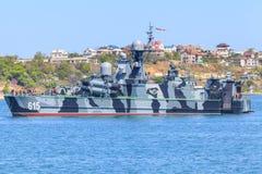 Корвет русского флота Чёрного моря военно-морского флота стоковые изображения rf
