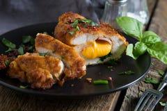 кордон цыпленка Блё Крен цыпленка с ветчиной и сыром стоковое фото