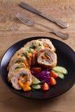 кордон цыпленка Блё Обручи куриной грудки с ветчиной и сыром стоковые фотографии rf