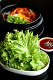 Корейская еда стоковое фото