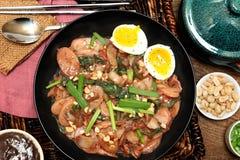 Корейская еда торта риса стоковые изображения