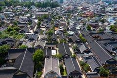 Корейская история Чонджу Корея городского пейзажа дома Стоковое Изображение