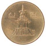 Корейская новая монетка Стоковые Фотографии RF