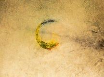 Корейская ритуальная предпосылка Drumhead Стоковые Изображения RF