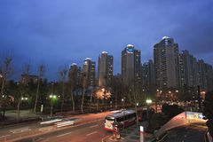 корейская улица ночи стоковое фото rf
