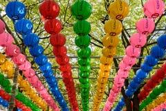 Корейские религиозные фонарики Стоковое Изображение
