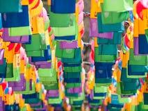 Корейские традиционные лампы Стоковая Фотография