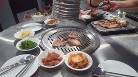 Корейский зажаренный BBQ видеоматериал