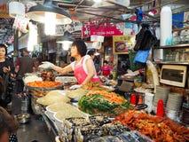 Корейский продовольственный рынок Стоковое фото RF