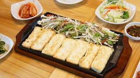 Корейский стиль marinated дальше испеченного утюга тофу, жалоба стоковое фото rf