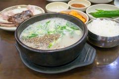 Корейский суп сосиски крови Стоковая Фотография RF