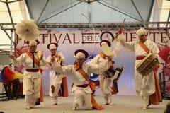 Корейский танец Стоковое Изображение