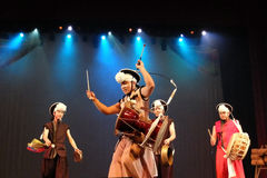 Корейский традиционный танец Стоковые Изображения RF