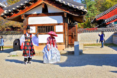 Корейский фестиваль деревни стоковое изображение