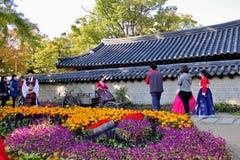 Корейский фестиваль деревни стоковая фотография