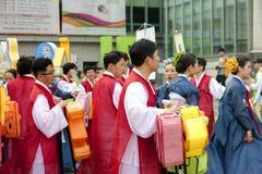 Корейский фестиваль фонарика лотоса Стоковые Изображения RF