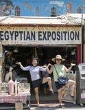 2 корейских женщины в египетском представлении Стоковые Фото