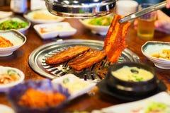 Корейское барбекю стоковое изображение