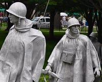 корейское мемориальное война воинов Стоковое Изображение RF