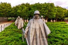 корейское мемориальное война ветеранов Стоковое Изображение