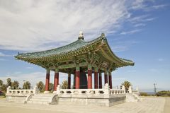 Корейское приятельство колокол в парке ворот ангелов в San Pedro, Калифорния стоковое фото